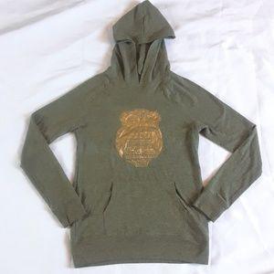 Falls Creek Golden Owl Shirt Hoodie  XL 14/16
